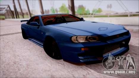 Nissan Skyline GT-R R34 para la visión correcta GTA San Andreas