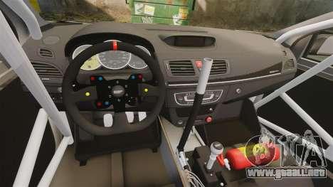 Renault Megane RS N4 para GTA 4 vista hacia atrás