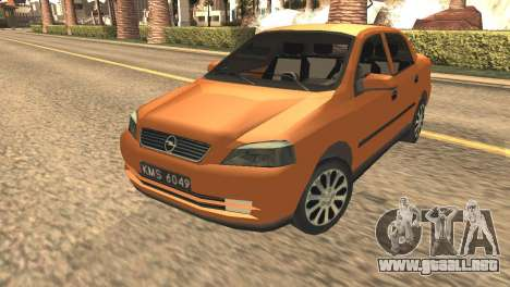 Opel Astra 1.6 TDi SEDAN para GTA San Andreas vista posterior izquierda