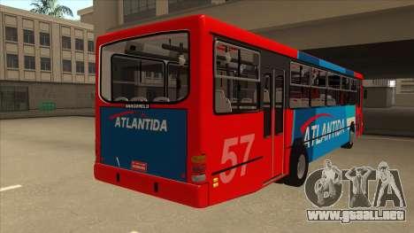 Marcopolo Torino G6 Linea 57 Atlantida para la visión correcta GTA San Andreas