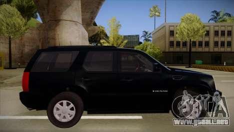 Cadillac Escalade 2011 Unmarked FBI para GTA San Andreas vista posterior izquierda