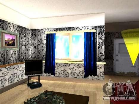 Nuevo edificio de 2 pisos interior CJ para GTA San Andreas sexta pantalla