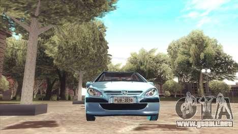 Peugeot 307 para la visión correcta GTA San Andreas