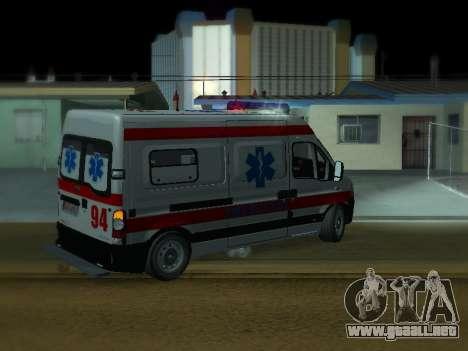 Renault Master ambulancia Serbio para la visión correcta GTA San Andreas