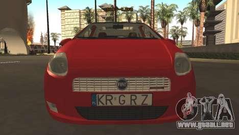 Fiat Grande Punto para GTA San Andreas left
