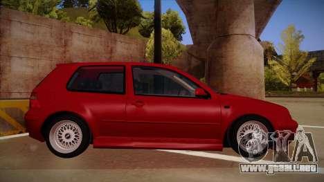 Volkswagen Golf Mk4 Euro para GTA San Andreas vista posterior izquierda
