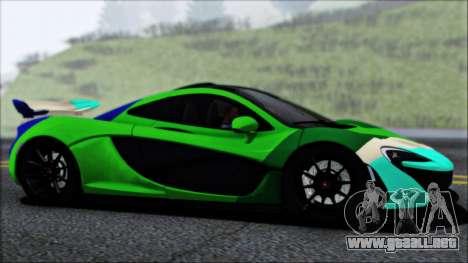 McLaren P1 2014 para vista inferior GTA San Andreas