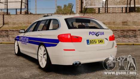 BMW M5 Touring Croatian Police [ELS] para GTA 4 Vista posterior izquierda