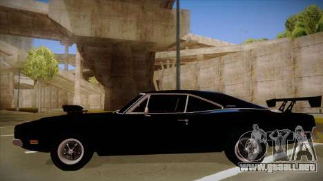 Dodge Charger para GTA San Andreas vista posterior izquierda