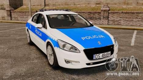 Peugeot 508 Polish Police [ELS] para GTA 4