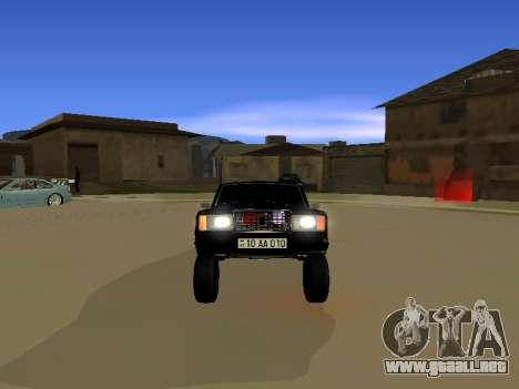 ВАЗ 2107 para GTA San Andreas vista posterior izquierda