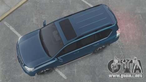 Toyota Land Cruiser Prado 150 para GTA 4 visión correcta