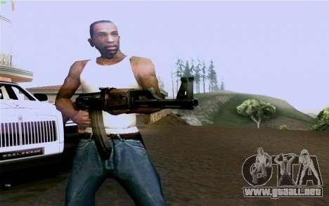 AK-47 para GTA San Andreas quinta pantalla