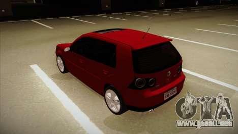 VW Golf GTI 2008 para GTA San Andreas vista hacia atrás