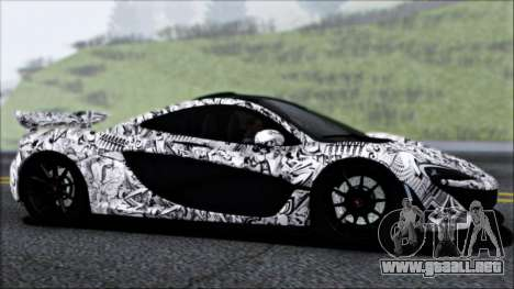 McLaren P1 2014 para la vista superior GTA San Andreas