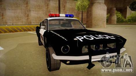 Shelby Mustang GT500 Eleanor Police para GTA San Andreas left