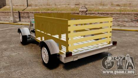 Carreta Agricola Tobaton para GTA 4 Vista posterior izquierda