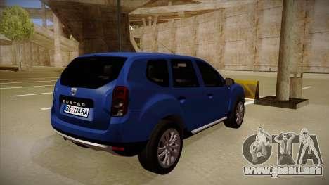 Dacia Duster SUV 4x4 para la visión correcta GTA San Andreas