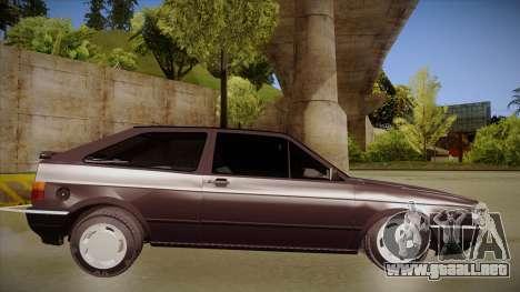 Volkswagen Gol para GTA San Andreas vista posterior izquierda