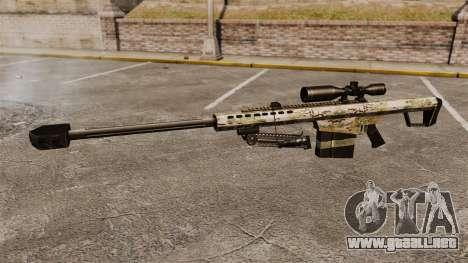 El francotirador Barrett M82 rifle v14 para GTA 4 tercera pantalla