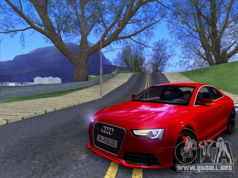 Audi RS5 2012 para GTA San Andreas vista posterior izquierda