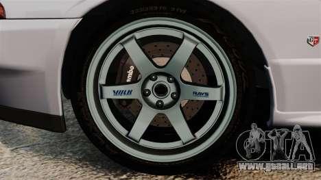 Nissan Skyline GT-R (R32) para GTA 4 vista hacia atrás