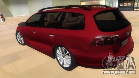 Volkswagen Passat B7 2012 para GTA Vice City left