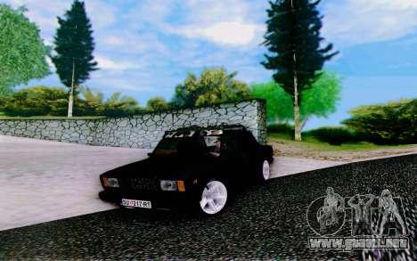 VAZ 2107 Riva para la visión correcta GTA San Andreas