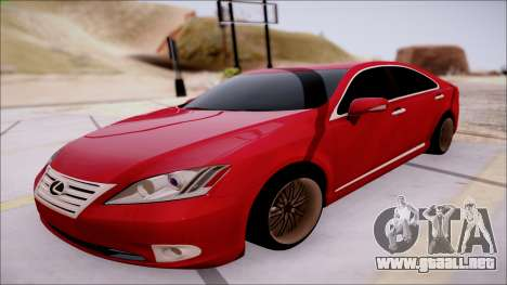 Lexus ES350 2010 para GTA San Andreas left