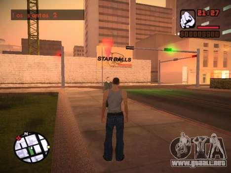 Nuevo menú y una nueva fuente para GTA San Andreas undécima de pantalla