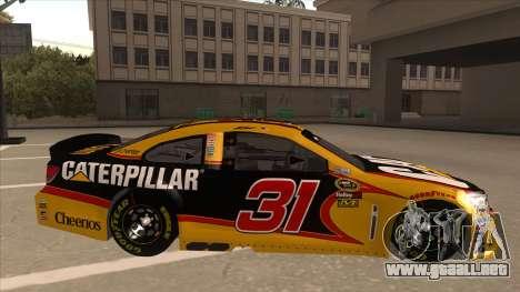 Chevrolet SS NASCAR No. 31 Caterpillar para GTA San Andreas vista posterior izquierda