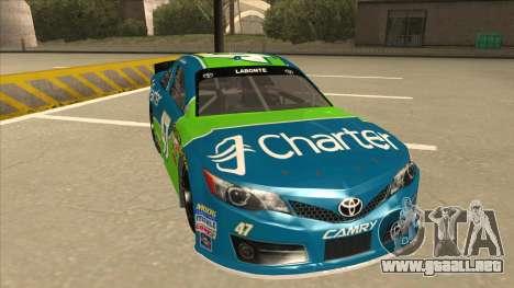 Toyota Camry NASCAR No. 47 Charter para GTA San Andreas left