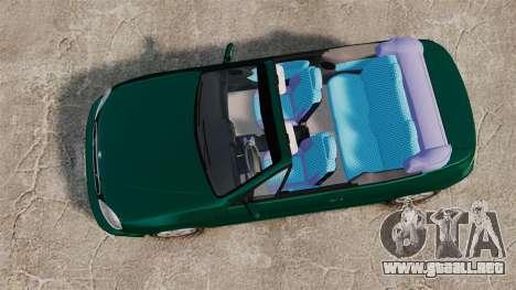 Daewoo Lanos 1997 Cabriolet Concept v2 para GTA 4 visión correcta