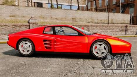 Ferrari Testarossa 1986 para GTA 4 left