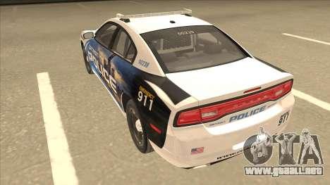 Dodge Charger Detroit Police 2013 para GTA San Andreas vista hacia atrás