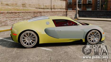 Bugatti Veyron Gold Centenaire 2009 para GTA 4 left