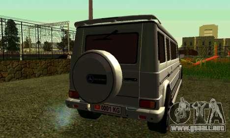 Mercedes-Benz G500 Limo para GTA San Andreas vista posterior izquierda