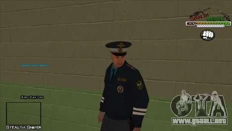 Pak SAPD pieles para GTA San Andreas sexta pantalla