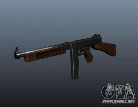 M1a1 Thompson subfusil ametrallador v2 para GTA 4