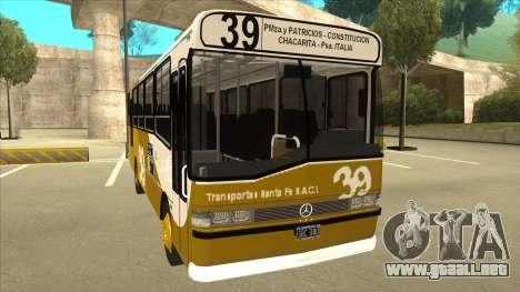 Mercedes-Benz OHL-1320 Linea 39 para GTA San Andreas left