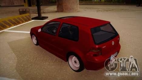 Volkswagen Golf Mk4 Euro para GTA San Andreas vista hacia atrás