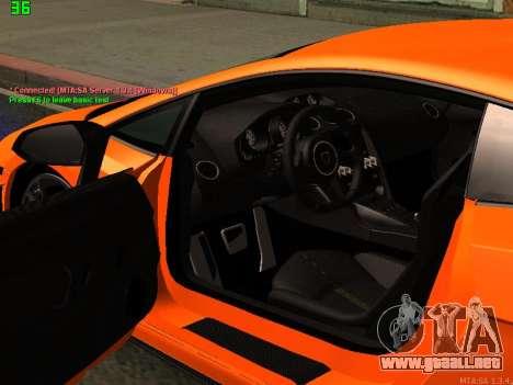 Lamborghini Gallardo LP560-4 SL UGR Altecho para GTA San Andreas vista hacia atrás