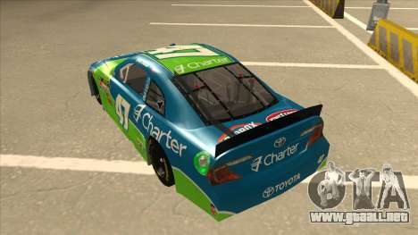 Toyota Camry NASCAR No. 47 Charter para GTA San Andreas vista hacia atrás
