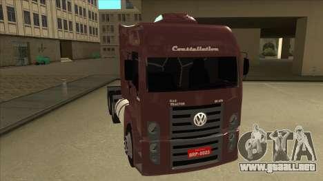 Volkswagen Constellation 25.370 Tractor para GTA San Andreas left