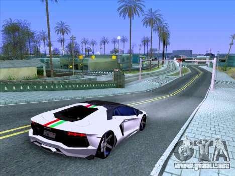 Lamborghini Aventador LP700-4 Vossen 2012 V2.0 F para vista lateral GTA San Andreas