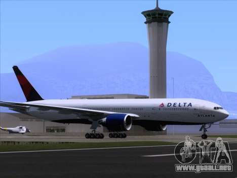 Boeing 777-200ER Delta Air Lines para las ruedas de GTA San Andreas