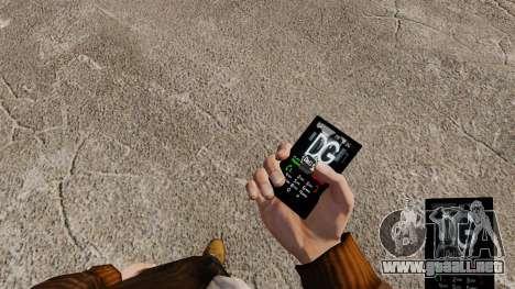 Temas para las marcas de teléfono ropa para GTA 4 segundos de pantalla