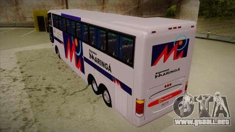 Busscar Jum Buss 400 P Volvo para GTA San Andreas vista hacia atrás