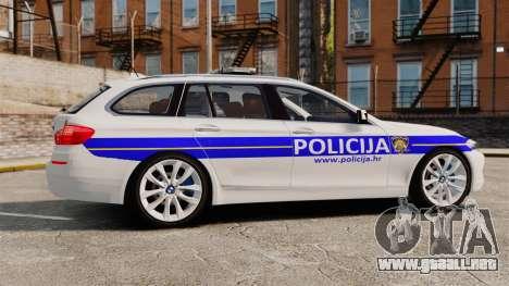 BMW M5 Touring Croatian Police [ELS] para GTA 4 left