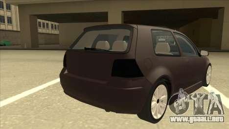 VW Golf 4 Tuned para la visión correcta GTA San Andreas